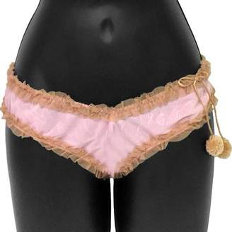 Rene Rofe Necessary Objects Cherry Pie Sweet and Low Tanga Panty, Small, Pink