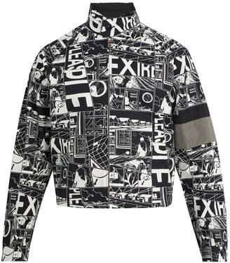 Prada Comic-print stand-collar jacket