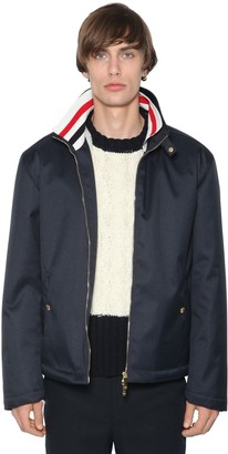 Thom Browne ZIP-UP TECH CANVAS JACKET