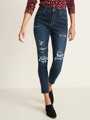 Old Navy High-Waisted Distressed Rockstar Super Skinny Ankle Jeans for Women