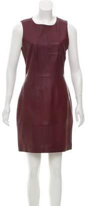 Walter Baker Leather Sheath Dress