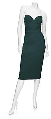 Zac Posen Exclusive Deep Sweetheart Bustier Dress: Jade