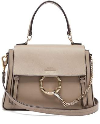Chloé Faye Leather Bag - Womens - Grey
