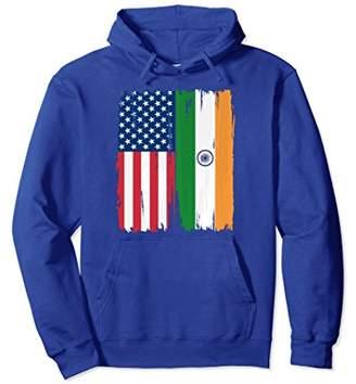 USA India Flag Hoodie