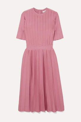 CASASOLA - Ribbed Stretch-knit Dress - Pink
