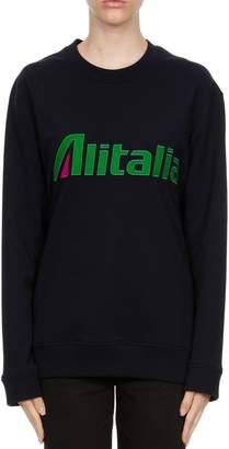 Alberta Ferretti Patches Cotton Jersey Sweatshirt