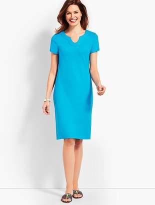 Talbots Short-Sleeve Interlock Shift Dress