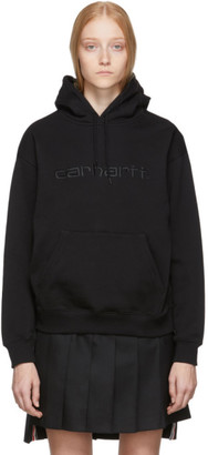 Carhartt Work In Progress Black Logo Hoodie