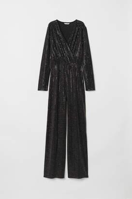 H&M Glittery Jumpsuit - Black
