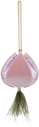 The Volon Velvet Cindy Feather Shoulder Bag