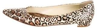 Manolo Blahnik Patterned Pointed-Toe Flats