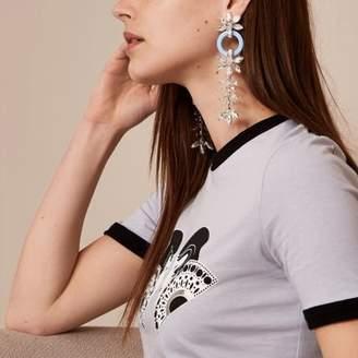 River Island Womens Blue Holly Fulton jewel clip on drop earrings