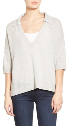 Women's James Perse Boxy Cashmere Polo $350 thestylecure.com