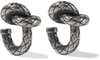 Bottega Veneta - Oxidized Silver-tone Earrings - Gunmetal $300 thestylecure.com