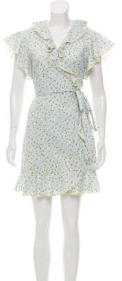 Tara Jarmon Ruffle-Accented Printed Dress