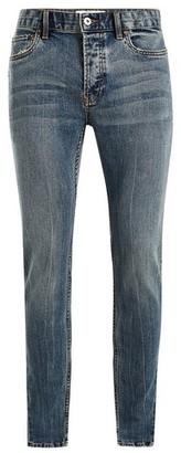 Topman Mens Mid Wash Blue Stretch Skinny Jeans