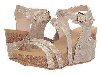712233c0bf Volatile Brown Leather Footbed Women's Sandals - ShopStyle