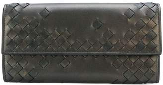 Bottega Veneta woven fold-over wallet