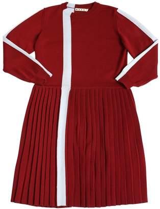 Marni Junior Stripe Wool Knit Dress