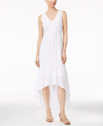 Ny Collection Crochet-Trim High-Low Dress $70 thestylecure.com
