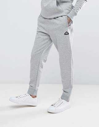 Penfield Hopedale Logo Tapered Cuffed Joggers In Grey Marl