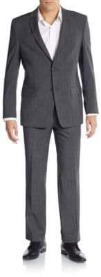 Versace Regular-Fit Melange Wool-Blend Suit