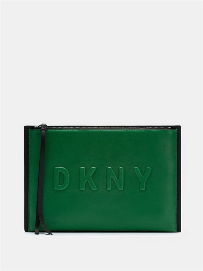 DKNYNeoprene Bonded Lamb Nappa Leather Clutch