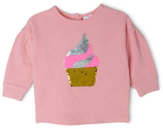 Sprout NEW Flip Sequin Sweat Top Pink
