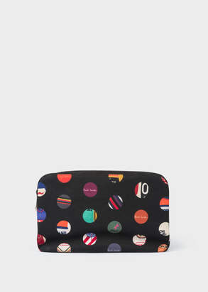 Paul Smith Men's 'Cycle Dot' Print Canvas Wash Bag