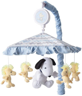 Lambs & Ivy My Little Snoopy and Woodstock Chevron Musical Baby Crib Mobile Bedding