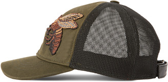 Canvas hat with bee embroidery $380 thestylecure.com