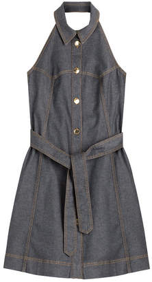 Moschino Halter Neck Jean Dress
