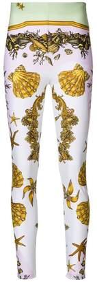 Versace Sea print leggings