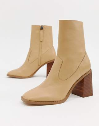 Asos DESIGN Evaline leather ankle boots