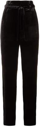 Brunello Cucinelli Wide-Leg Velvet Trousers