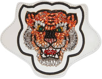 Embroidered tiger leather appliqué $350 thestylecure.com