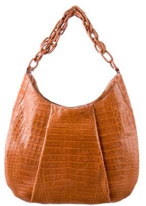 Nancy Gonzalez Crocodile Chain-Link Hobo