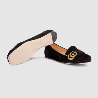Gucci Suede ballet flat