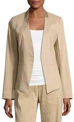 Kobi Halperin Claudia Lace-Trim Linen-Blend Blazer Jacket