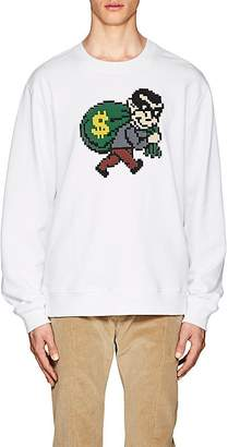 Mostly Heard Rarely Seen 8-Bit Men's Bank-Robber Cotton Sweatshirt