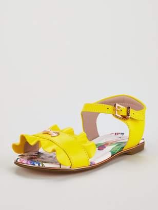 Ted Baker Toddler Girls Frill Sandal - Yellow