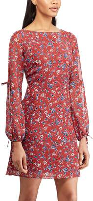Chaps Women's Print Open Sleeve A-Line Dress
