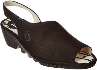 Fly London Palp 814 Wedge Suede Sandal