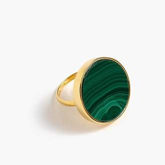 J.Crew Demi-fine 14K gold-plated malachite ring