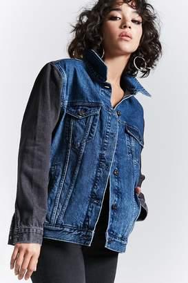 Forever 21 Colorblock Denim Jacket