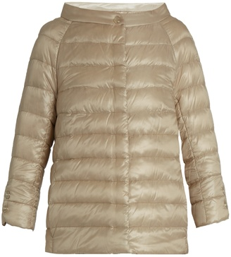 HERNO Boat-neck quilted down jacket $369 thestylecure.com