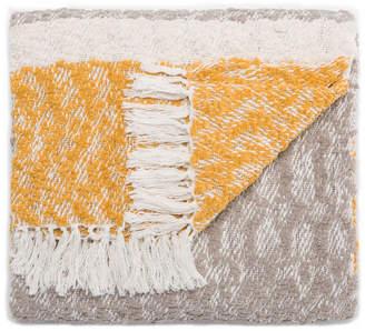 "Jaipur Rugs Inc Jaipur Living Nora Yellow/Gray Stripe Throw 50"" X 60"""