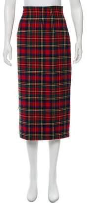 Dolce & Gabbana Plaid Midi Skirt green Plaid Midi Skirt