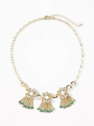 Old Navy Floral-Cluster Statement Necklace for Women