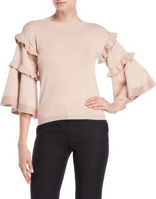 Vila Milano Ruffled Bell Sleeve Sweater